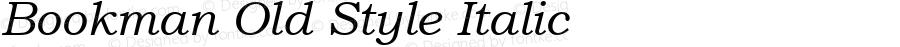 Bookman Old Style Italic Version 2.35