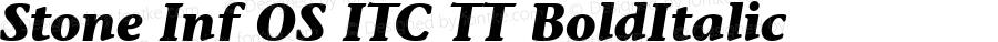 Stone Inf OS ITC TT BoldItalic Version 1.00