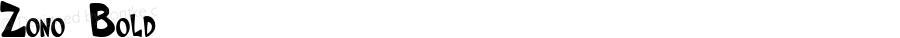 Zono Bold Macromedia Fontographer 4.1.4 11/6/00