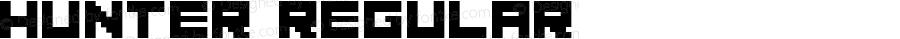 Hunter Regular Macromedia Fontographer 4.1.5 07.11.2000
