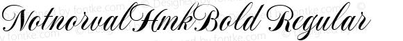 NotnorvalHmkBold Regular Macromedia Fontographer 4.1.4 11/8/1999