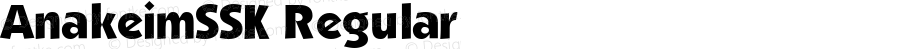 AnakeimSSK Regular Macromedia Fontographer 4.1 7/25/95