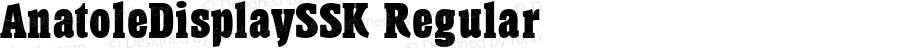 AnatoleDisplaySSK Regular Macromedia Fontographer 4.1 7/25/95