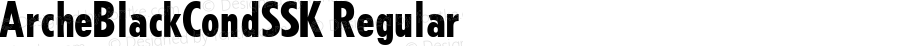 ArcheBlackCondSSK Regular Macromedia Fontographer 4.1 7/25/95
