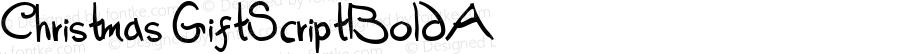 Christmas GiftScriptBoldA Macromedia Fontographer 4.1.5 12/13/99