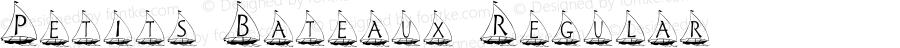 Petits Bateaux Regular Macromedia Fontographer 4.1 12/11/99
