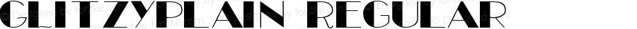 GLitzyPlain Regular Altsys Fontographer 3.5  11/13/92