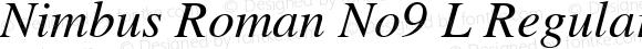 Nimbus Roman No9 L Regular Italic