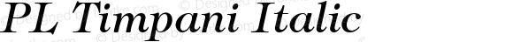 PL Timpani Italic