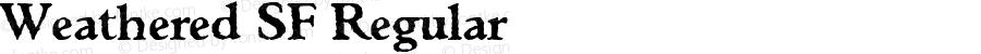 Weathered SF Regular Altsys Fontographer 3.5  31.01.1994
