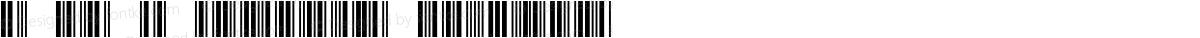 3 of 9 Barcode Regular