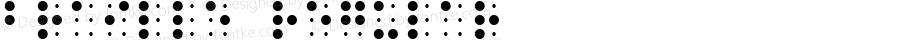 Braille Regular Macromedia Fontographer 4.1.3 11/16/99