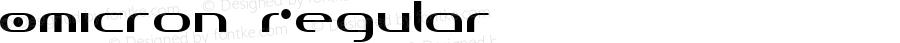 Omicron Regular Macromedia Fontographer 4.1 1997-09-15