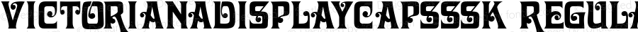 VictorianaDisplayCapsSSK Regular Macromedia Fontographer 4.1 8/7/95
