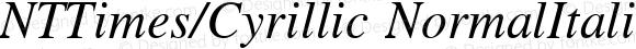 NTTimes/Cyrillic NormalItalic