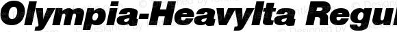 Olympia-HeavyIta Regular B & P Graphics Ltd.:26.6.1993