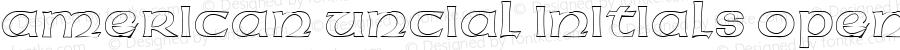 American Uncial Initials Open Regular Altsys Fontographer 3.5  11/25/92