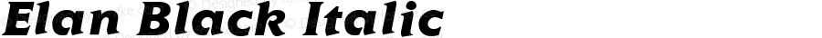 Elan Black Italic Altsys Fontographer 3.5  11/25/92