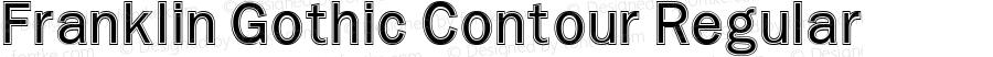 Franklin Gothic Contour Regular Altsys Fontographer 3.5  11/25/92