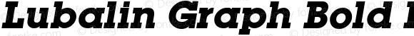 Lubalin Graph Bold Italic