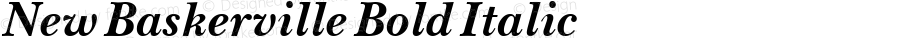 New Baskerville Bold Italic