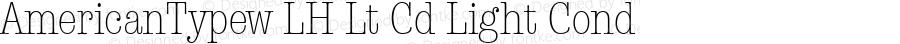 AmericanTypew LH Lt Cd Light Cond 1.000; 05-12-93