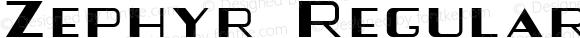 Zephyr Regular Altsys Fontographer 4.0.4D2 12/10/94