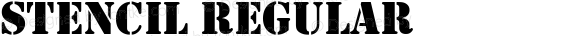 Stencil Regular Version 1.50