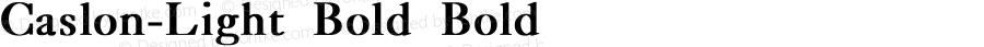 Caslon-Light Bold Bold Unknown