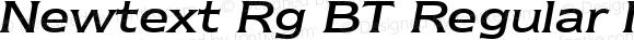 Newtext Rg BT Regular Italic