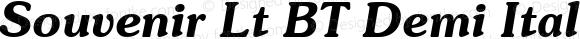 Souvenir Lt BT Demi Italic