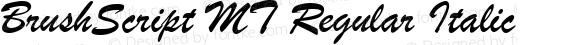 BrushScript MT Regular Italic
