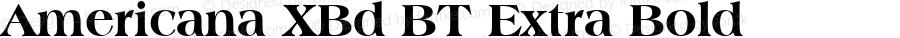 Americana XBd BT Extra Bold mfgpctt-v4.4 Dec 8 1998