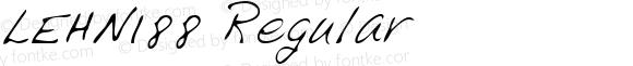 LEHN188 Regular Copyright (c)1996 Expert Software, Inc.