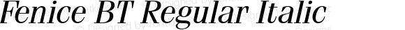Fenice BT Regular Italic