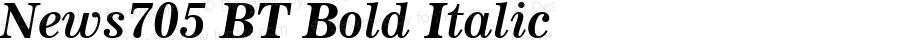 News705 BT Bold Italic mfgpctt-v4.4 Dec 14 1998