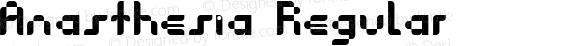 Anasthesia Regular Fontmaker 2.1