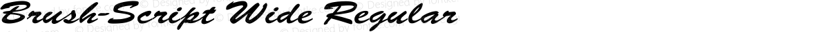 Brush-Script Wide Regular
