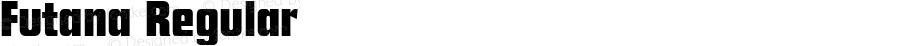Futana Regular Altsys Fontographer 3.5  2/8/93