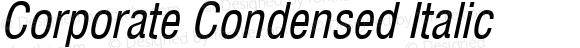 Corporate Condensed Italic