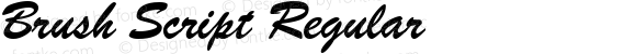 Brush Script Regular