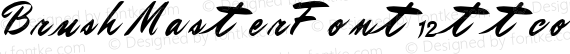 BrushMasterFont12 ttcon Regular preview image