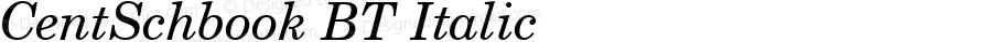Century Schoolbook Italic BT