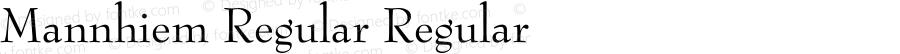 Mannhiem Regular Regular Unknown