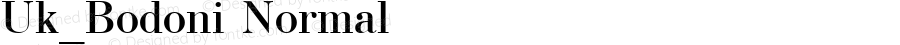 Uk_Bodoni Normal 10:10:1966