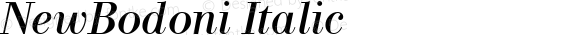 NewBodoni Italic