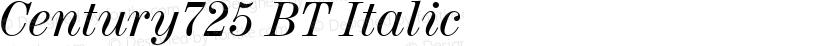 Century725 BT Italic Preview Image