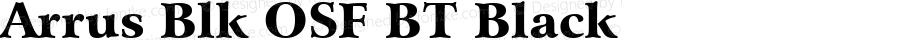 Arrus Blk OSF BT Black mfgpctt-v4.5 Dec 28 2000