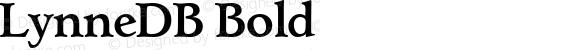 LynneDB Bold Altsys Fontographer 4.0.3 8.9.1994