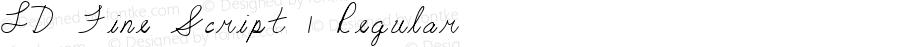 LD Fine Script 1 Regular 1/31/2001